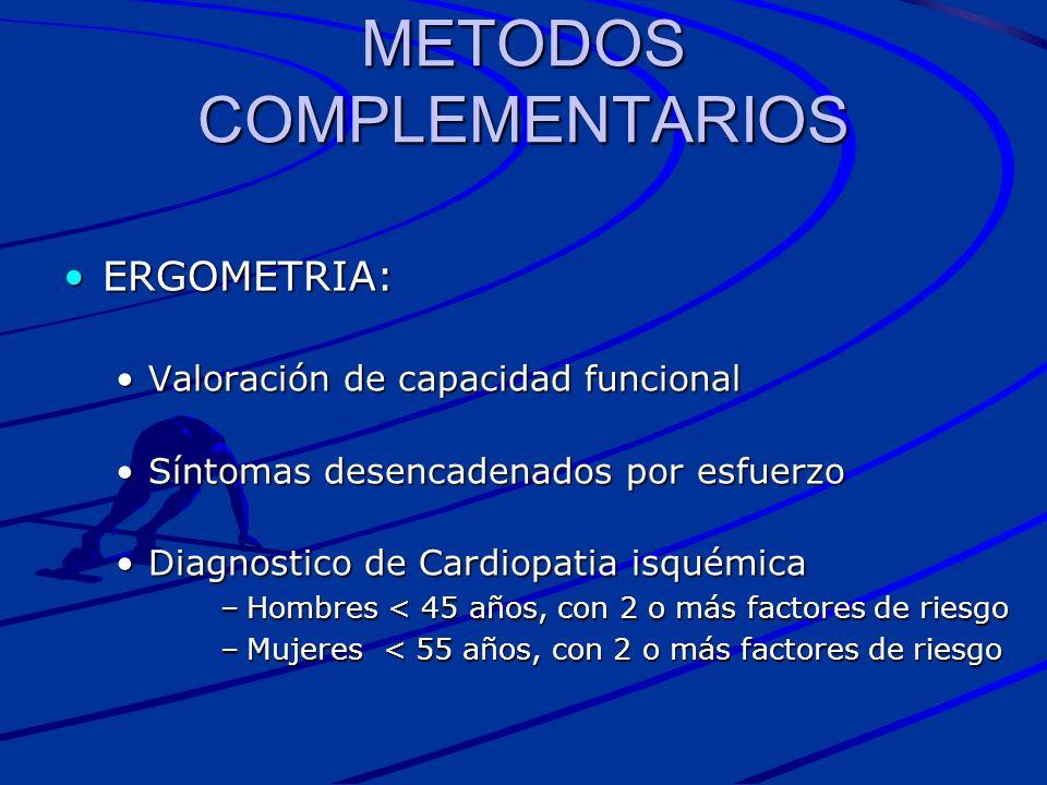 METODOS COMPLEMENTARIOS