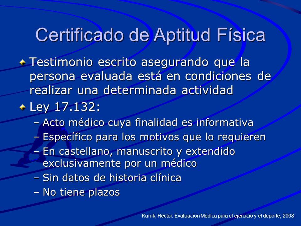Certificado de Aptitud Física