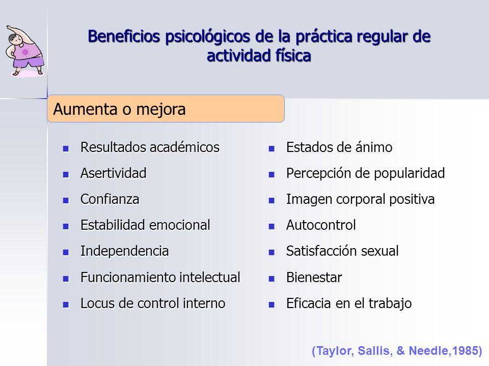 Beneficios psicológicos de la práctica regular de actividad física