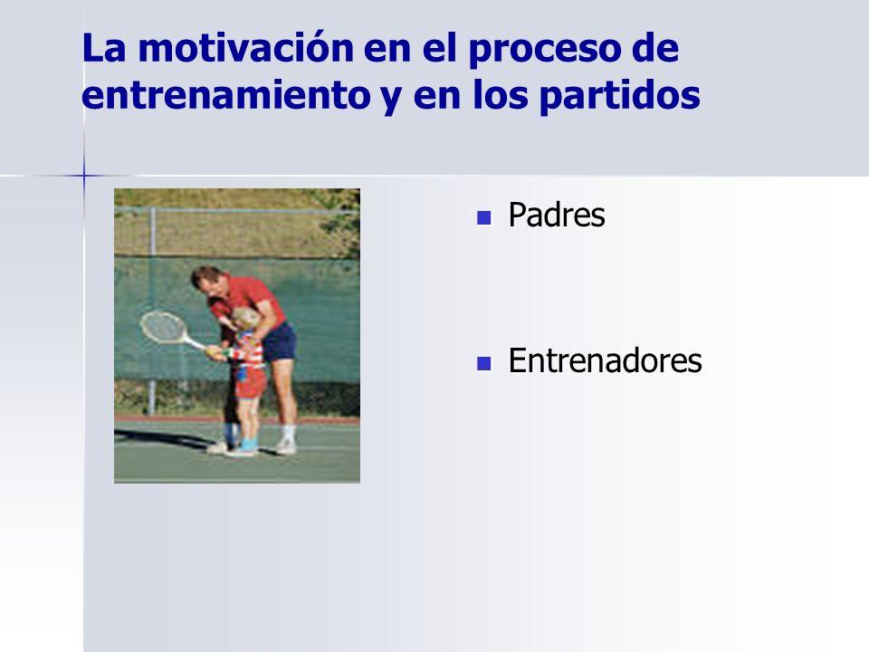 La motivación en el proceso de entrenamiento y en los partidos