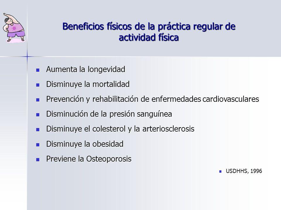 Beneficios físicos de la práctica regular de actividad física