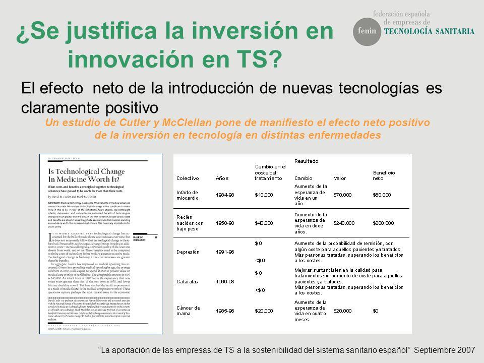 ¿Se justifica la inversión en innovación en TS