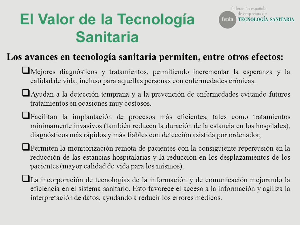El Valor de la Tecnología Sanitaria