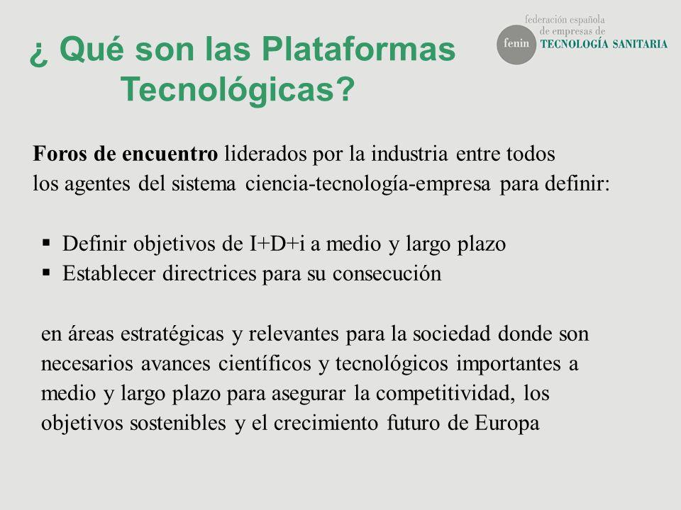 ¿ Qué son las Plataformas Tecnológicas