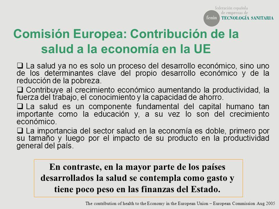 Comisión Europea: Contribución de la salud a la economía en la UE