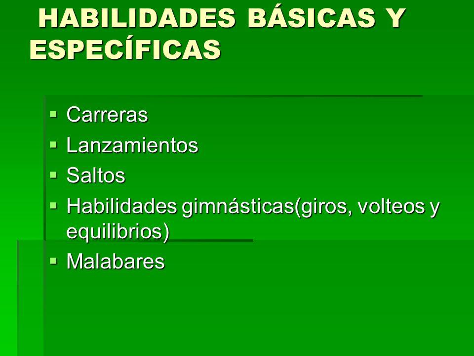 HABILIDADES BÁSICAS Y ESPECÍFICAS