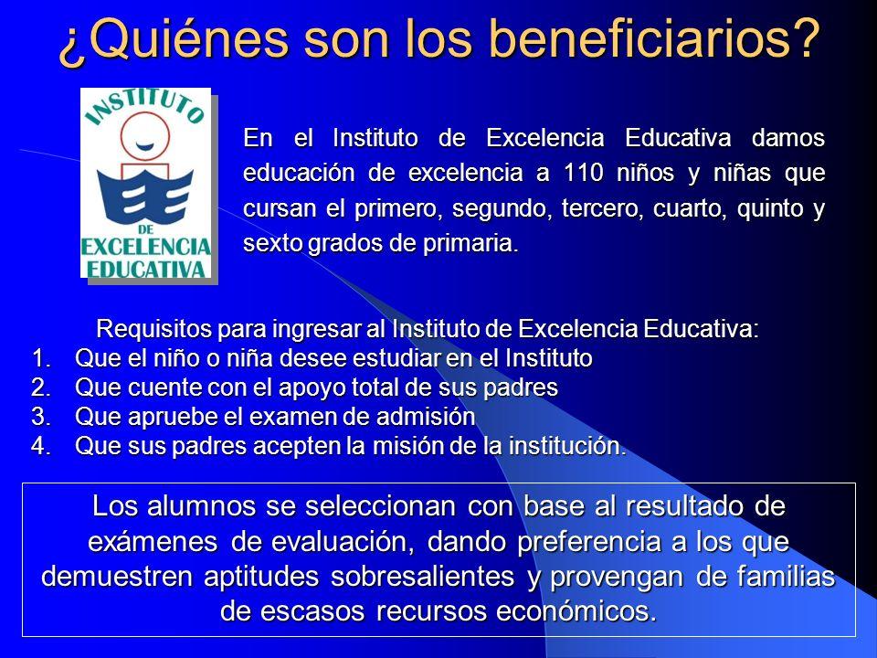 ¿Quiénes son los beneficiarios