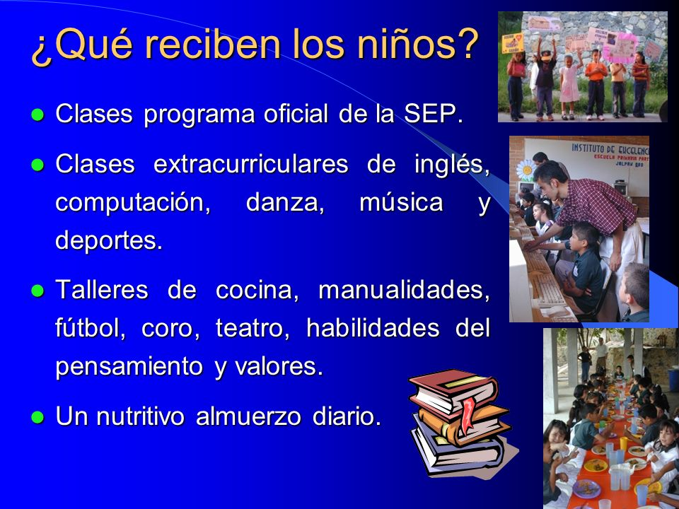 ¿Qué reciben los niños Clases programa oficial de la SEP.