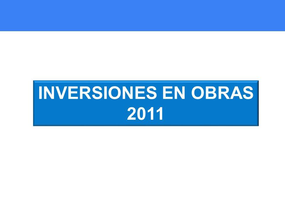 INVERSIONES EN OBRAS 2011