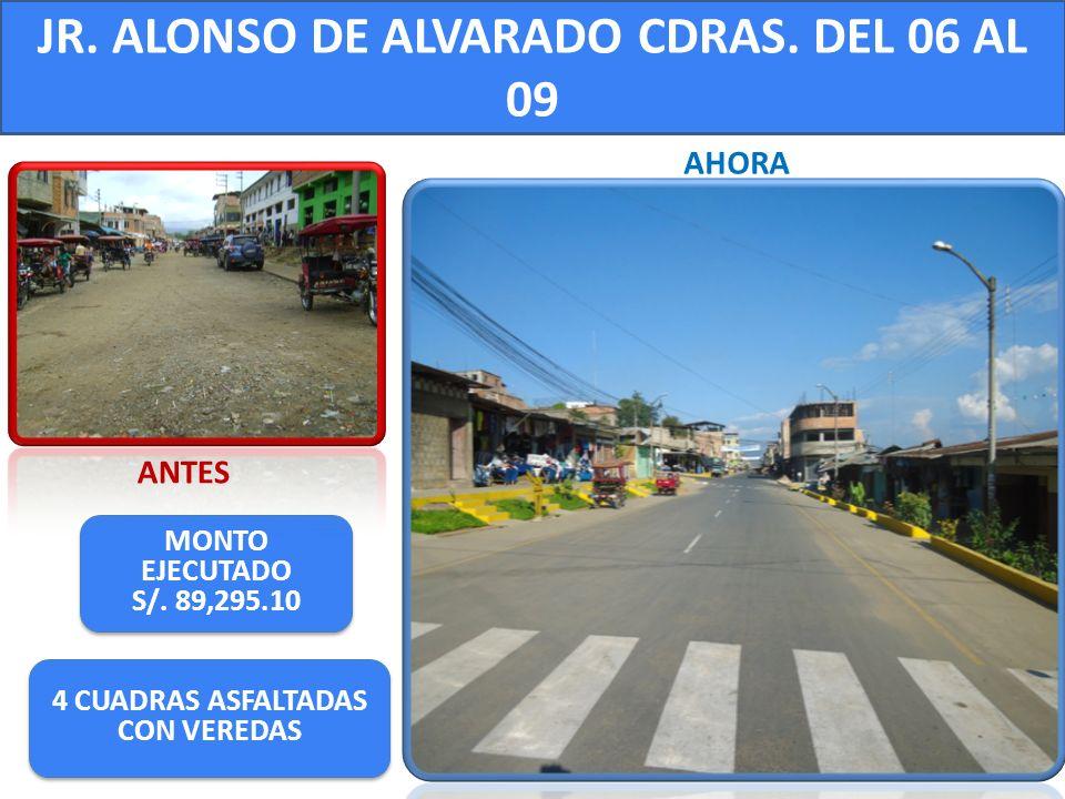 JR. ALONSO DE ALVARADO CDRAS. DEL 06 AL 09