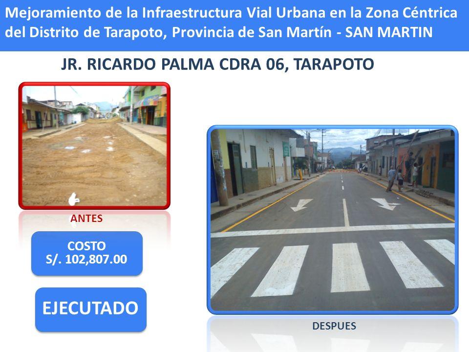 JR. RICARDO PALMA CDRA 06, TARAPOTO