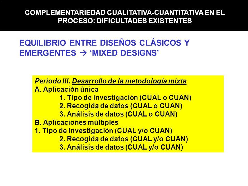EQUILIBRIO ENTRE DISEÑOS CLÁSICOS Y EMERGENTES  'MIXED DESIGNS'