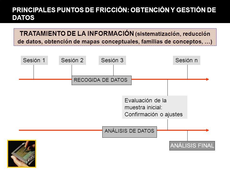 PRINCIPALES PUNTOS DE FRICCIÓN: OBTENCIÓN Y GESTIÓN DE DATOS