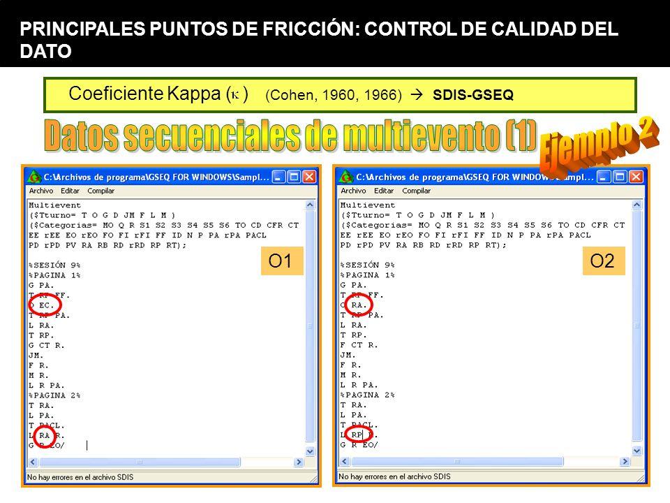 Datos secuenciales de multievento (1) Ejemplo 2