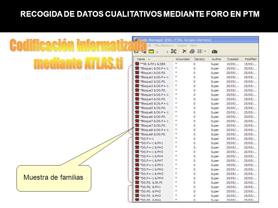 RECOGIDA DE DATOS CUALITATIVOS MEDIANTE FORO EN PTM