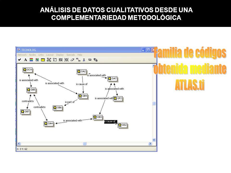 Familia de códigos obtenida mediante ATLAS.ti