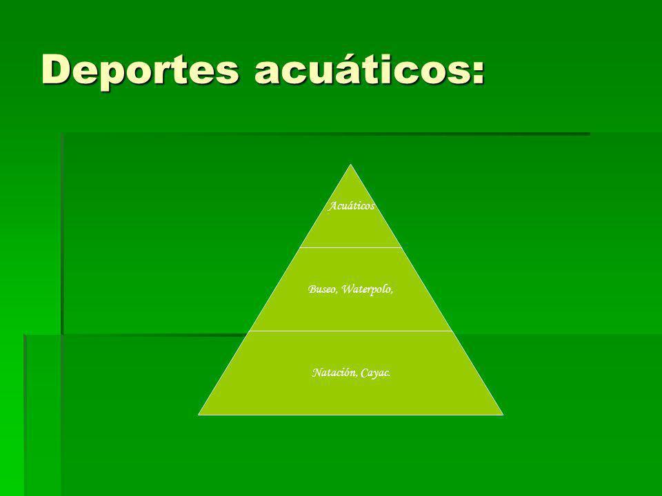 Deportes acuáticos: