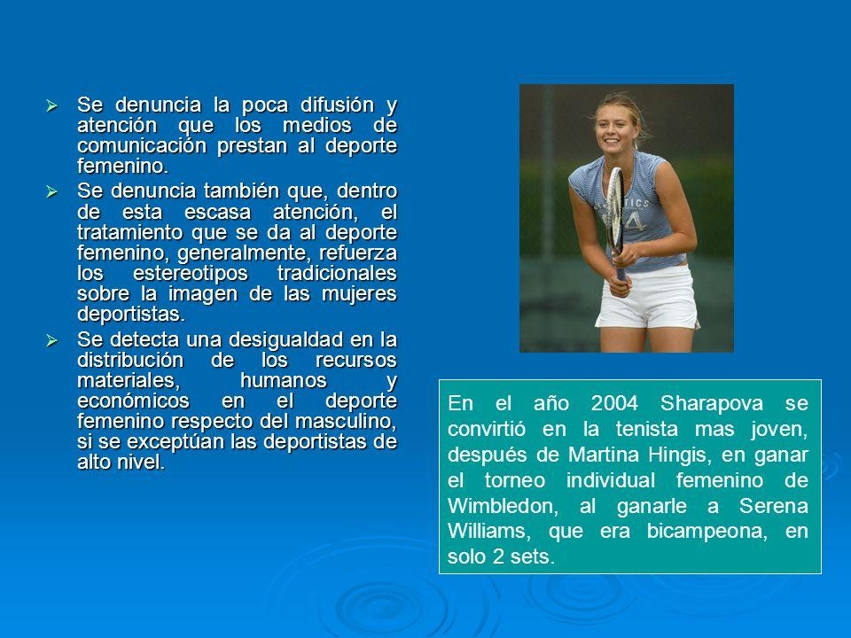 Se denuncia la poca difusión y atención que los medios de comunicación prestan al deporte femenino.