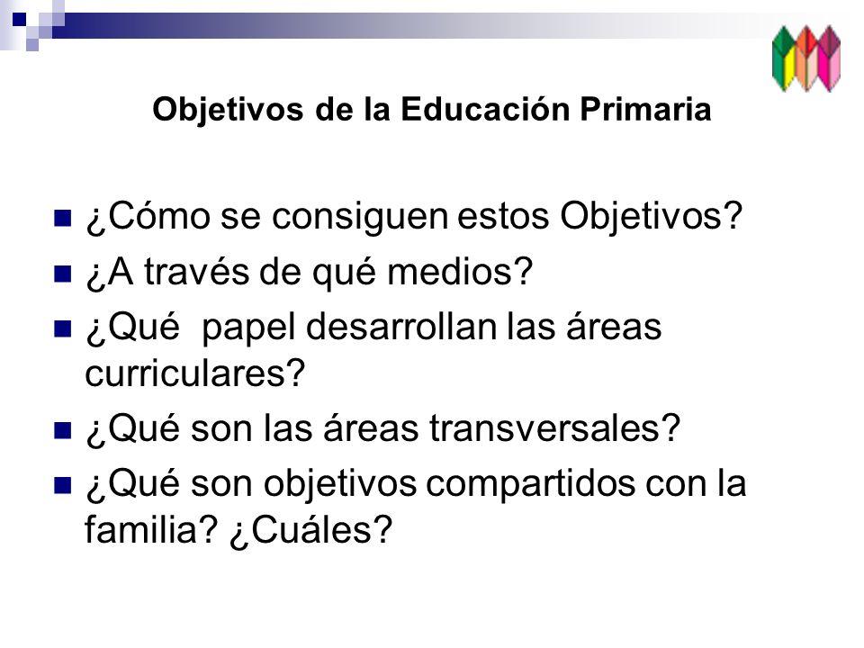 Objetivos de la Educación Primaria