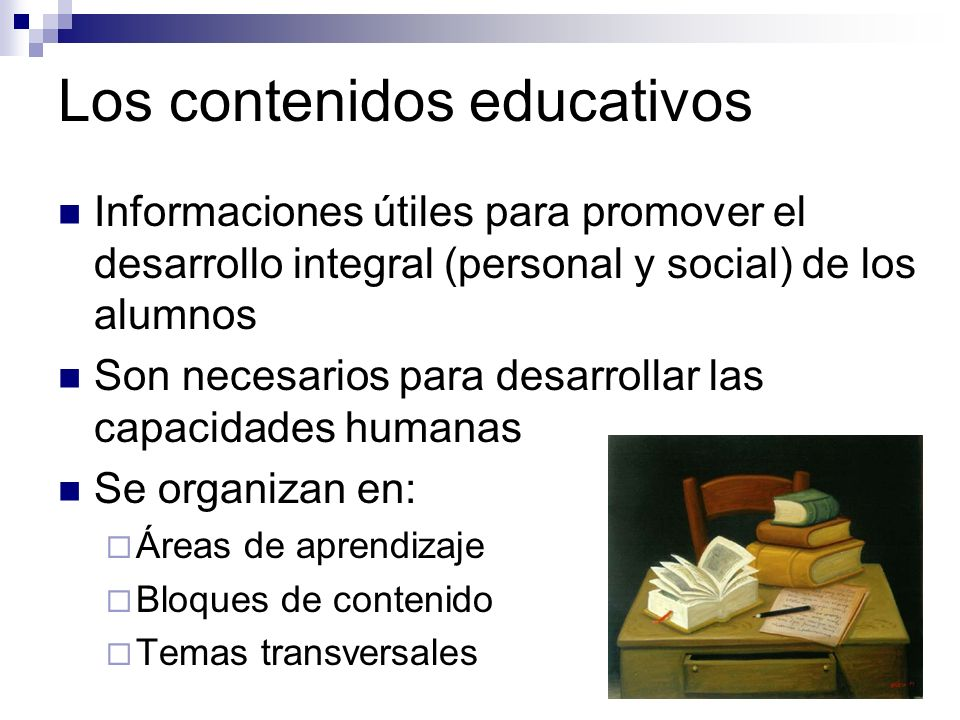 Los contenidos educativos