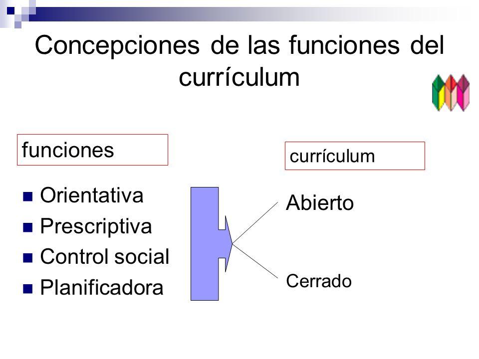 Concepciones de las funciones del currículum