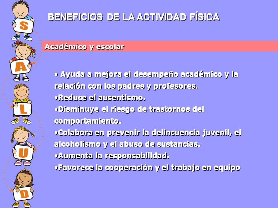 BENEFICIOS DE LA ACTIVIDAD FÍSICA BENEFICIOS DE LA ACTIVIDAD FÍSICA