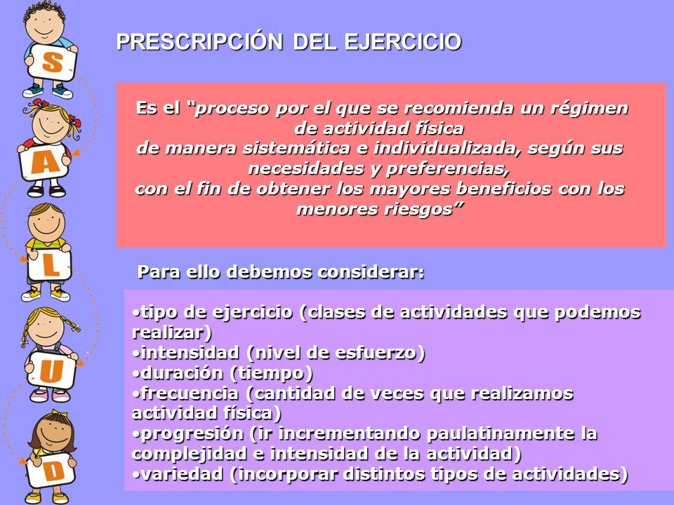 PRESCRIPCIÓN DEL EJERCICIO