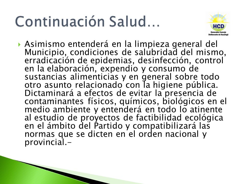 Continuación Salud…
