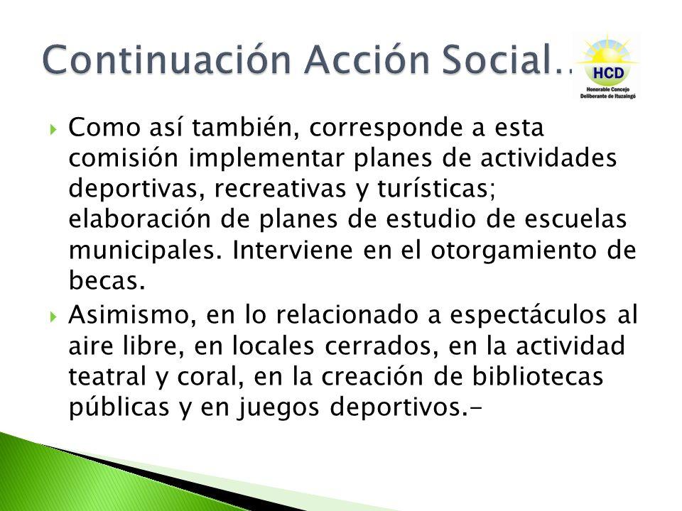 Continuación Acción Social…