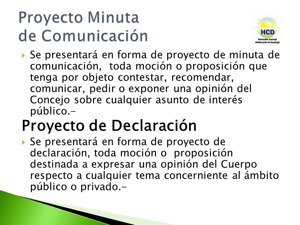 Proyecto Minuta de Comunicación