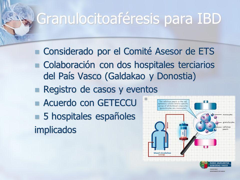 Granulocitoaféresis para IBD