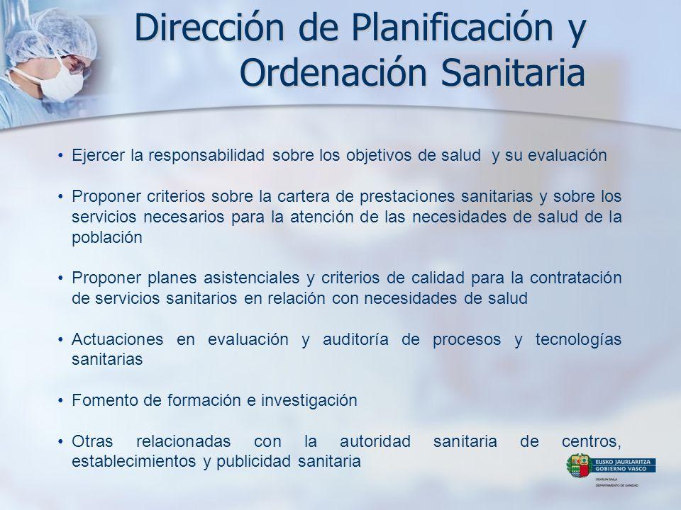 Dirección de Planificación y Ordenación Sanitaria