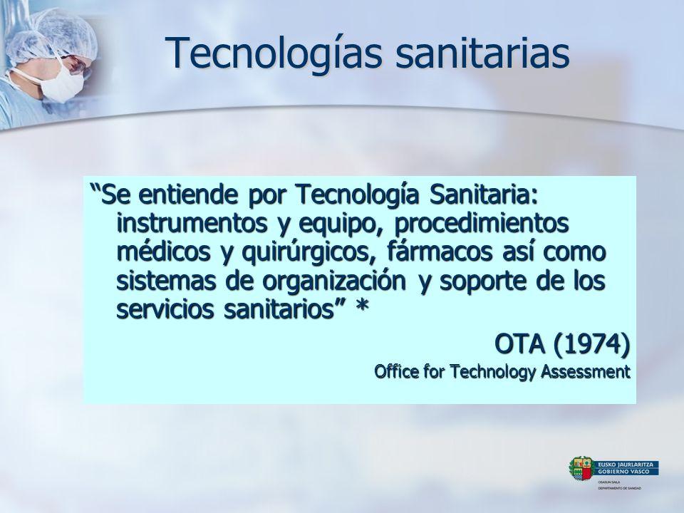 Tecnologías sanitarias