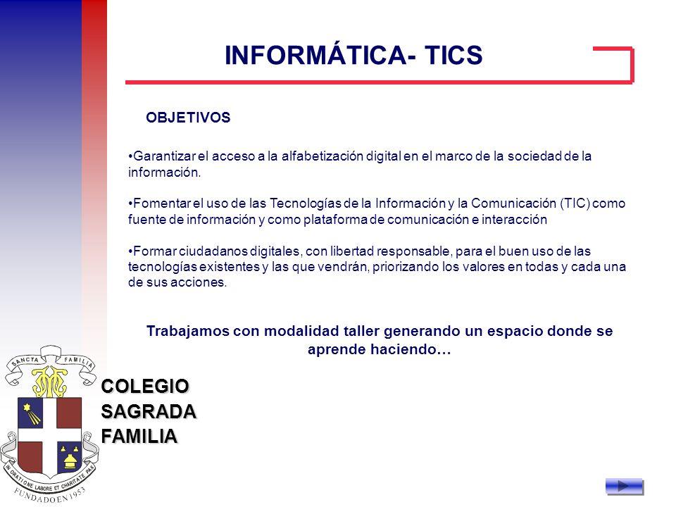 INFORMÁTICA- TICS OBJETIVOS