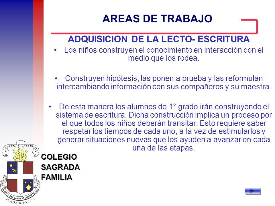 ADQUISICION DE LA LECTO- ESCRITURA