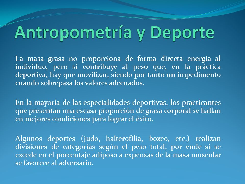 Antropometría y Deporte