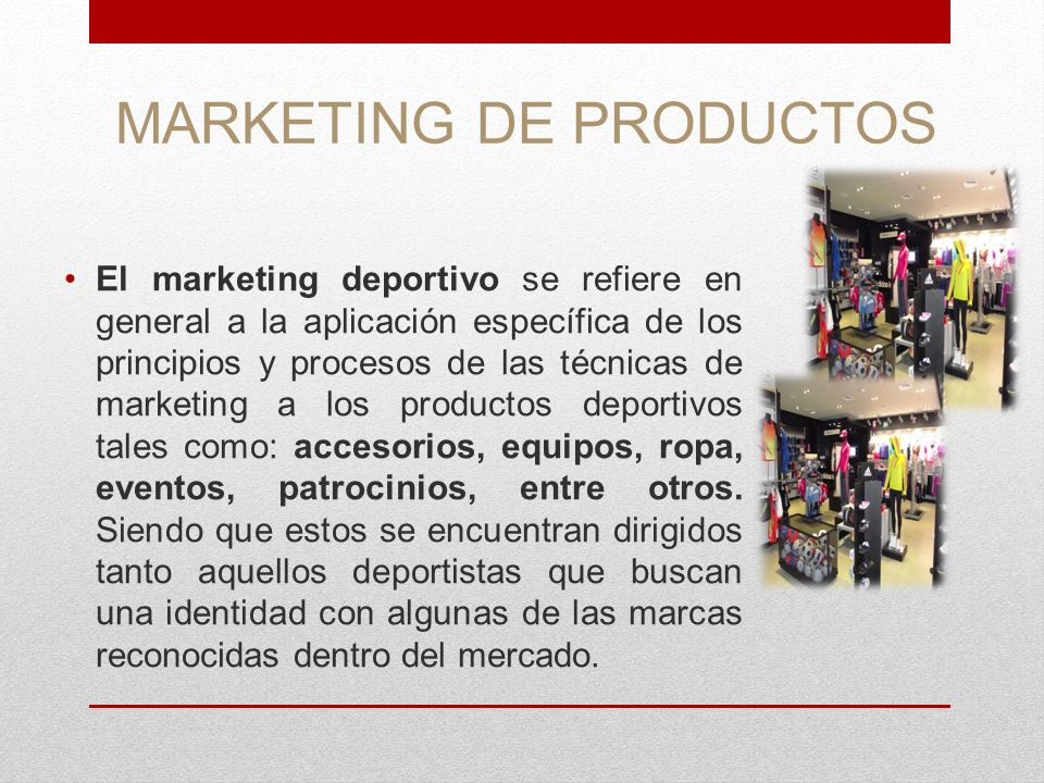 MARKETING DE PRODUCTOS
