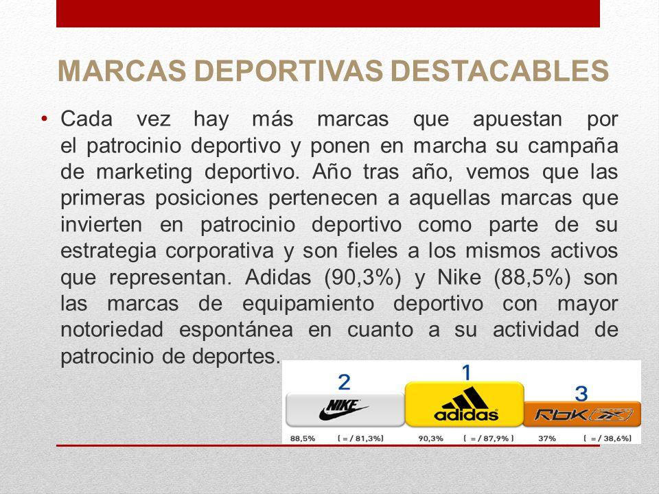 MARCAS DEPORTIVAS DESTACABLES
