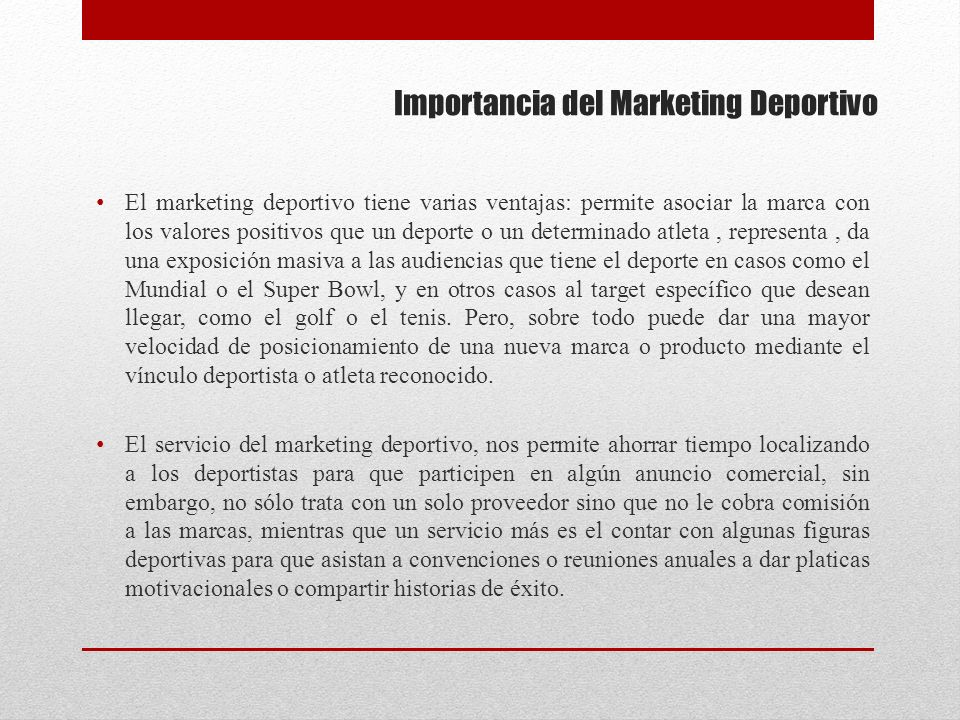 Importancia del Marketing Deportivo