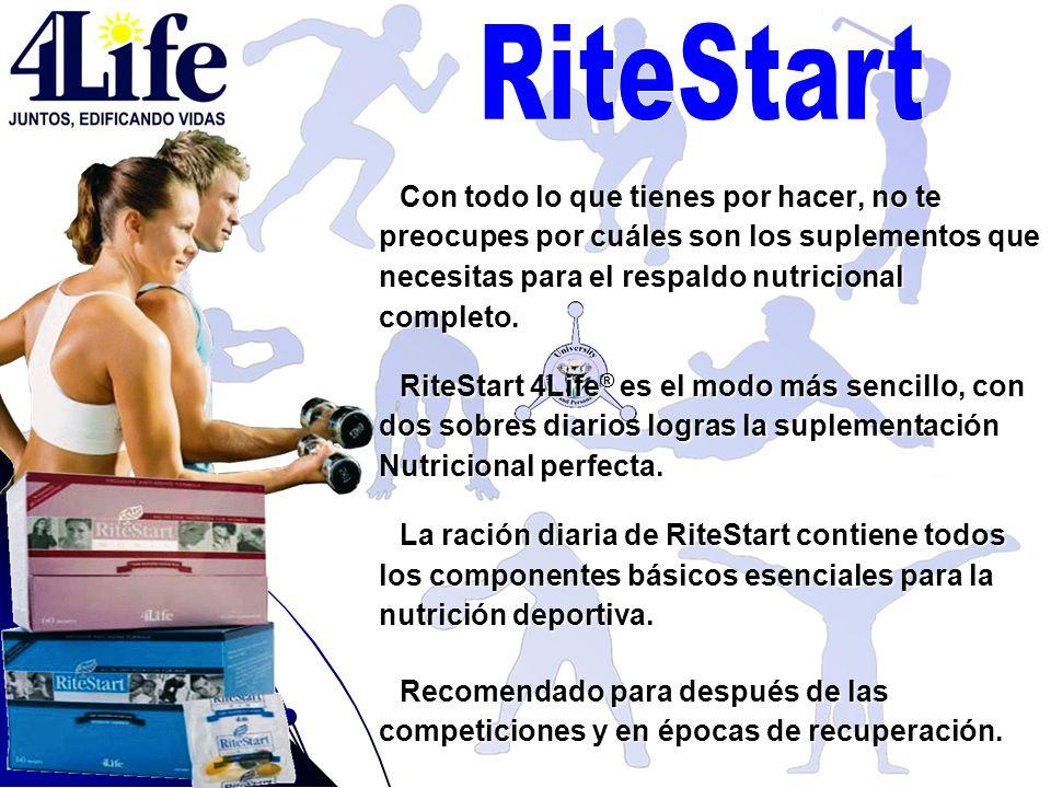 RiteStart Con todo lo que tienes por hacer, no te preocupes por cuáles son los suplementos que necesitas para el respaldo nutricional completo.