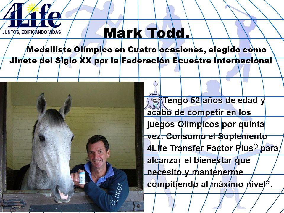 Mark Todd. Medallista Olímpico en Cuatro ocasiones, elegido como Jinete del Siglo XX por la Federación Ecuestre Internacional.