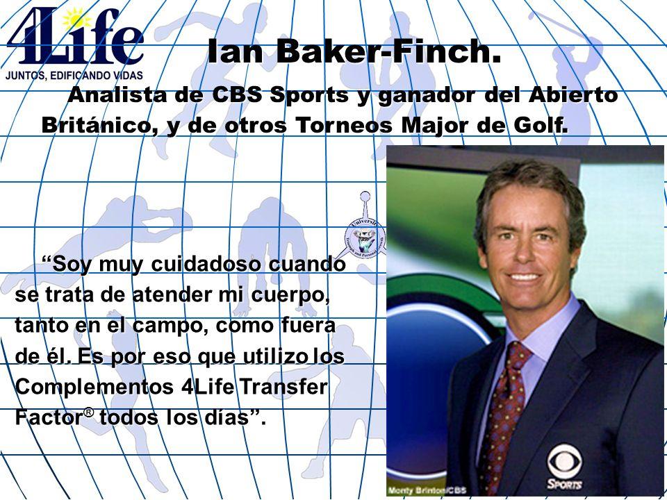 Ian Baker-Finch. Analista de CBS Sports y ganador del Abierto Británico, y de otros Torneos Major de Golf.