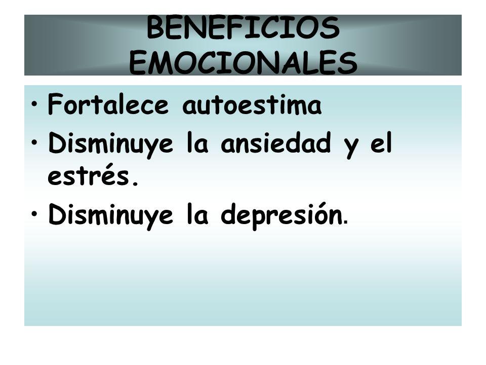 BENEFICIOS EMOCIONALES