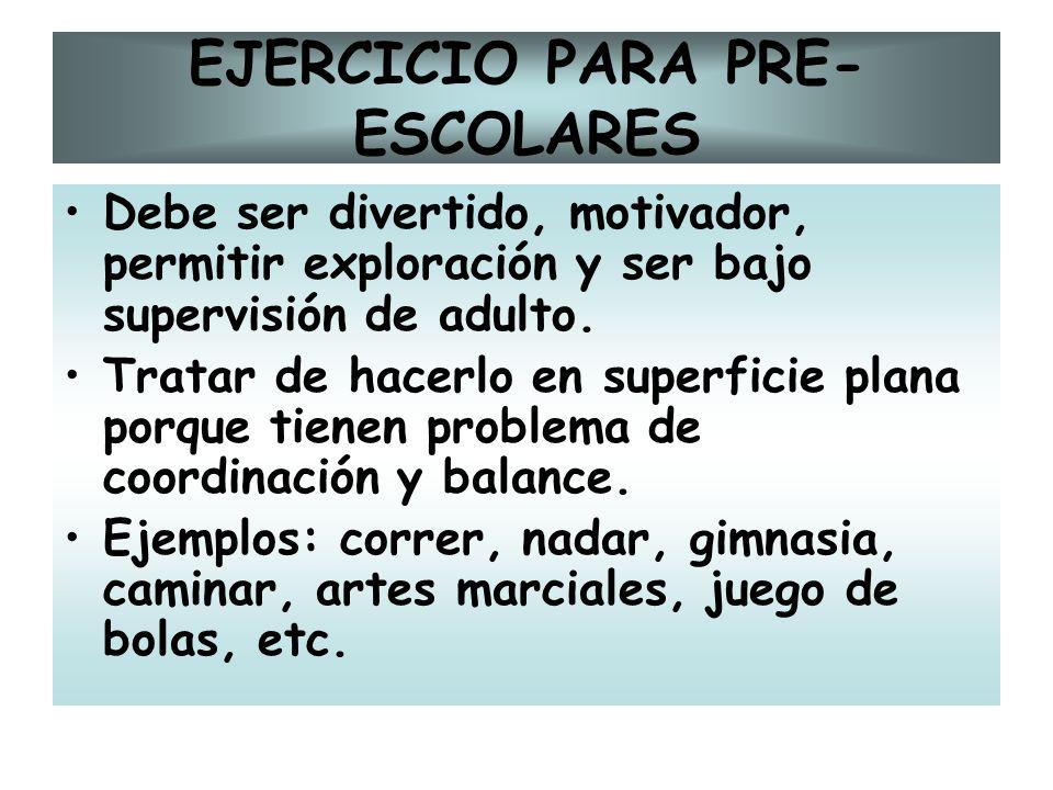 EJERCICIO PARA PRE-ESCOLARES