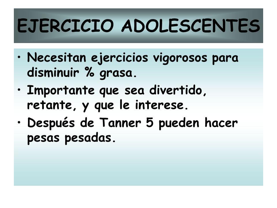 EJERCICIO ADOLESCENTES