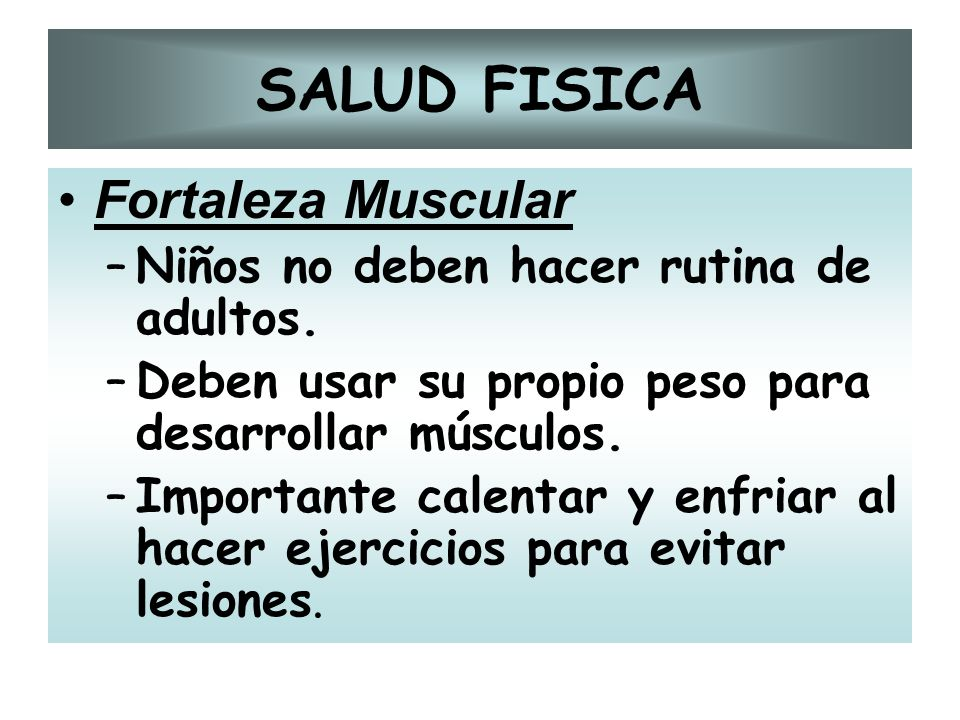 SALUD FISICA Fortaleza Muscular