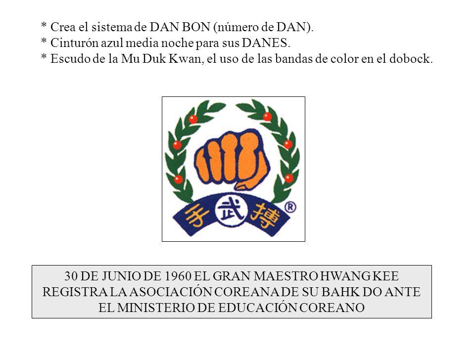 * Crea el sistema de DAN BON (número de DAN).