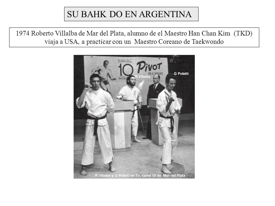 viaja a USA, a practicar con un Maestro Coreano de Taekwondo