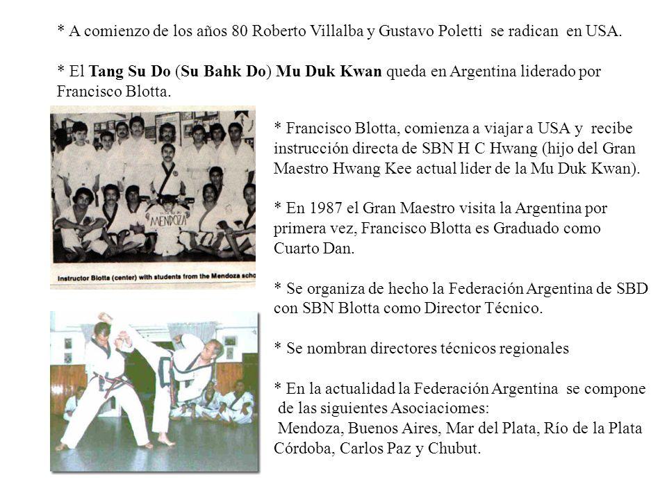 * A comienzo de los años 80 Roberto Villalba y Gustavo Poletti se radican en USA.