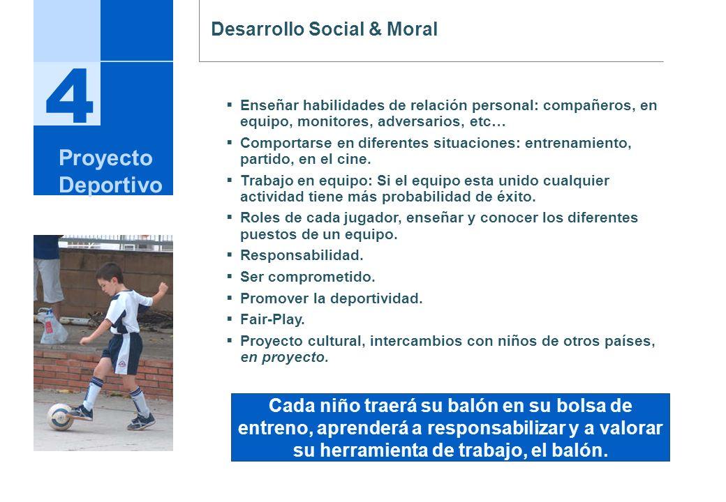 4 Proyecto Deportivo Desarrollo Social & Moral